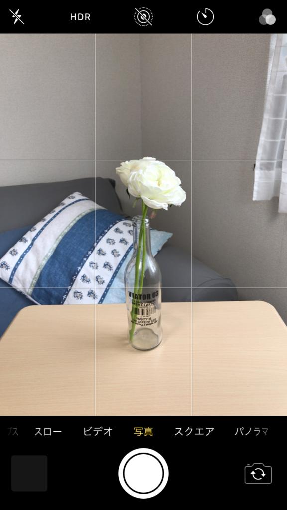 白い花(中央)